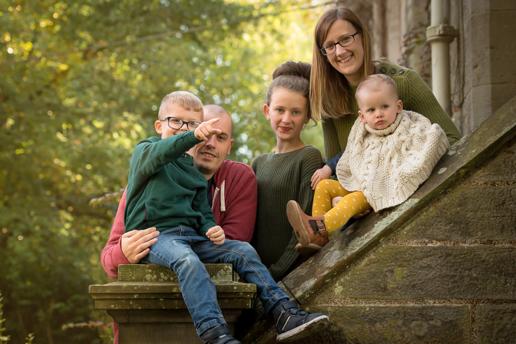 Family photographer Edinburgh Fife Lothian - the Lappin family at Lauriston Castlw