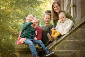 Family Photographer Edinburgh - outdoors natural photography Lauriston Castle